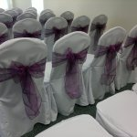 Chair covers and aubergine sash (3)