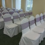 Chair covers and aubergine sash (6)