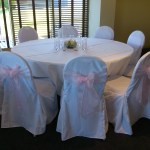 Chair covers and pink sash at The Tytherington Club (3)