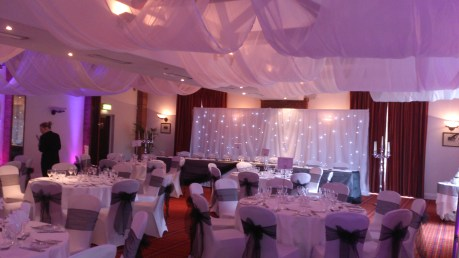 Carden Park Shooting Suite venue dressing