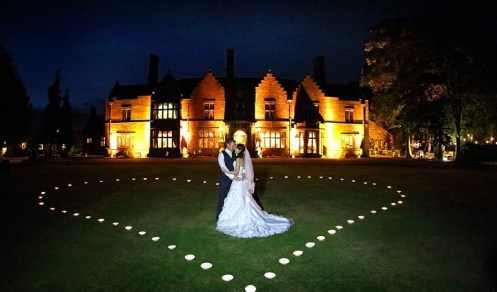 Wrenbury Hall wedding heart