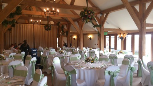 Sandhole Oak Barn venue dressing
