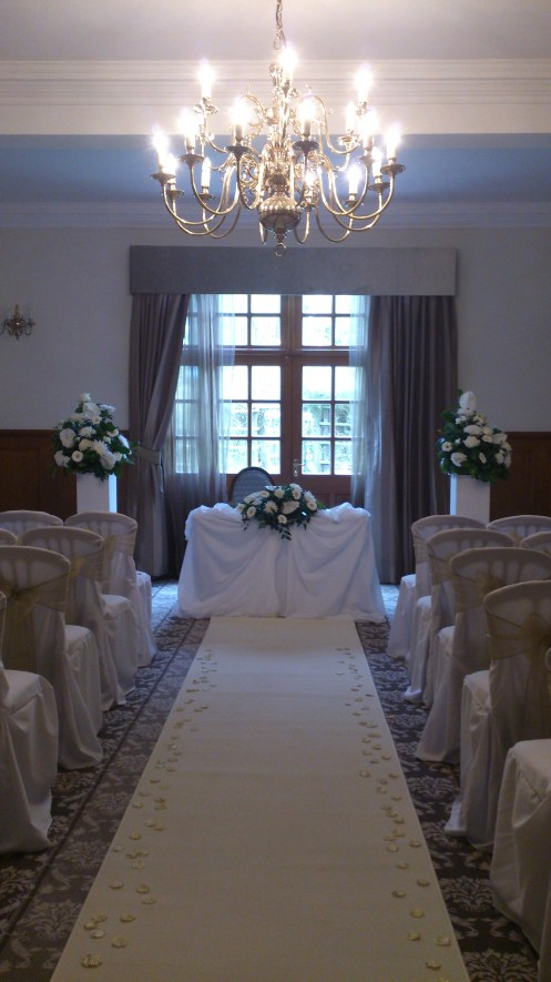 Ceremony room dressing