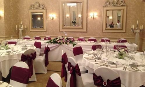Rowton Hall venue dressing