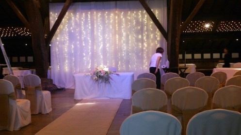 Rivington Barn venue dressing