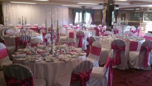 Bredbury Hall wedding venue dressing
