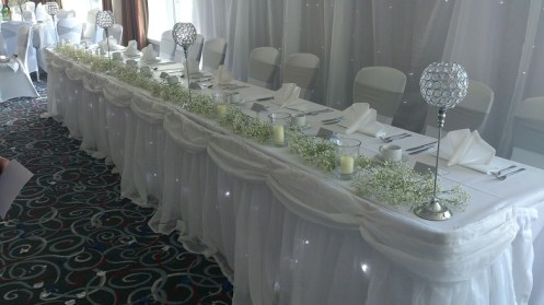 Radisson Blu top table set up