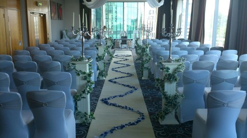 Radisson Blu wedding venue dressing