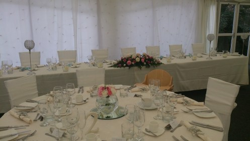 Soughton Hall wedding venue dressing