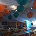 Wedding venue ceiling decorations cheshire