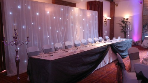 Twinkling backdrop hire
