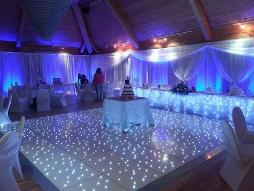 lighting and dance floors for weddings