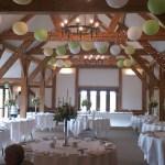Sandhole Oak Barn venue dressing