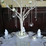 white manzanita tree table centre