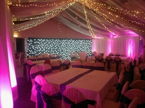 venue lighting and draping