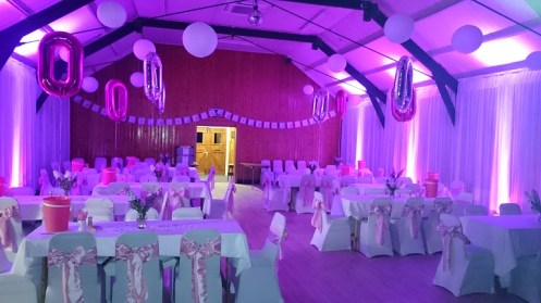 venue draping hire cheshire