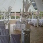 Glasshouse wedding ceremony Combermere Abbey