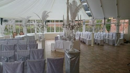 silver wedding theme