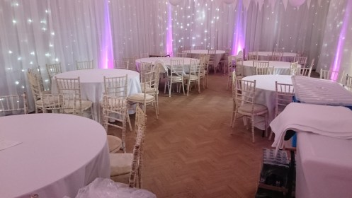 room draping and lighting