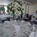 Large neutral centrepiece displays