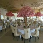 Blossom tree centrepieces