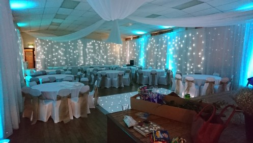 wedding draping hire