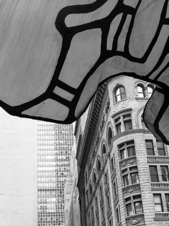"""Jean DuBuffet """"Four Trees"""" One Chase Manhattan Plaza"""