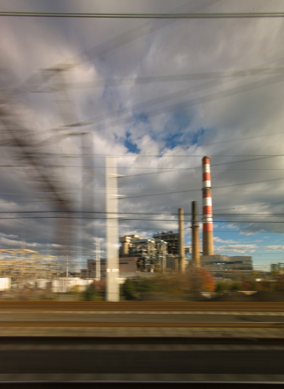 From the Acela at high speed