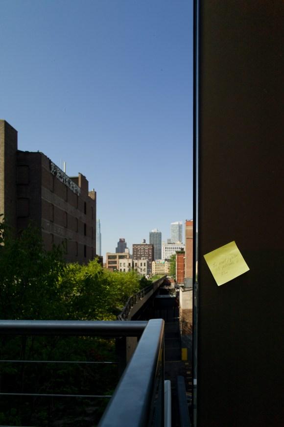 Postit on the High Line