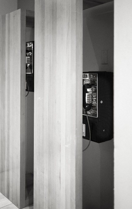 They hide the pay phones