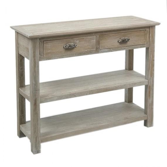 console 2 tiroirs en bois gris delave 100cm woodycosy com