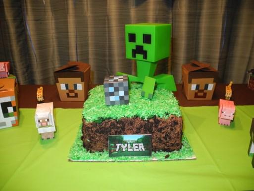 Minecraft Block of Grass Cake directions