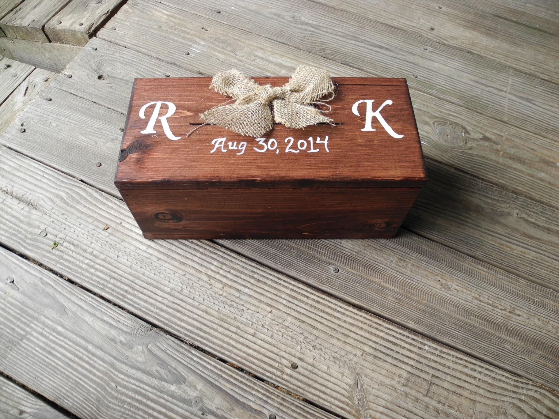 Anniversary Wedding Wine Box Personalized