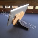 Wooden Apple Tablt Stand that can be Personalized