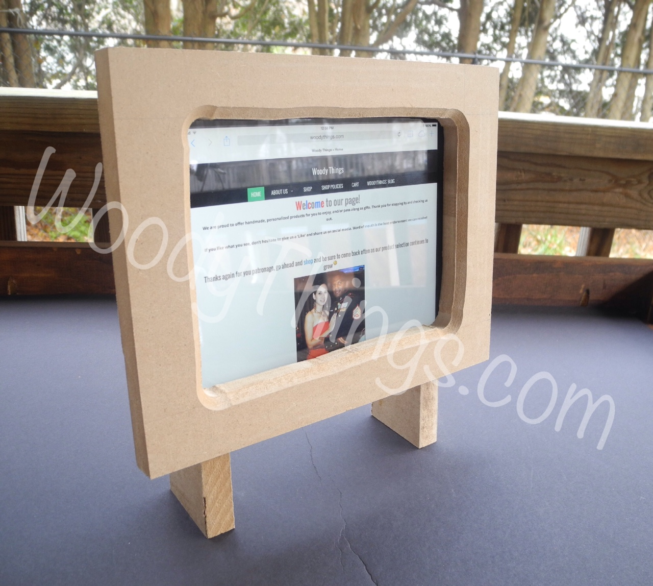 Ipad Easel wooden easel tablet stand   woody things, llc
