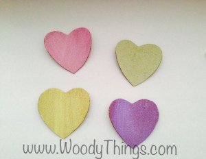 Painted Cork Candy Hearts