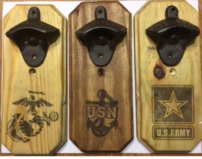 marine corps cast iron bottle opener woody things llc. Black Bedroom Furniture Sets. Home Design Ideas