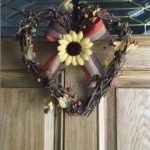 Autumn Wreath on Door