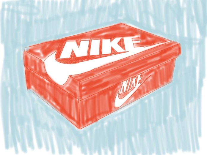 Sneaker Shoe Box rendering