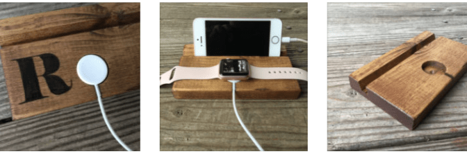 iPhone and Apple Watch Docks