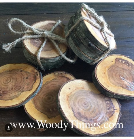 WoodyThings Tree Branch Coasters