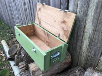 WoodyThings Military Ammo Box Green Open Lid