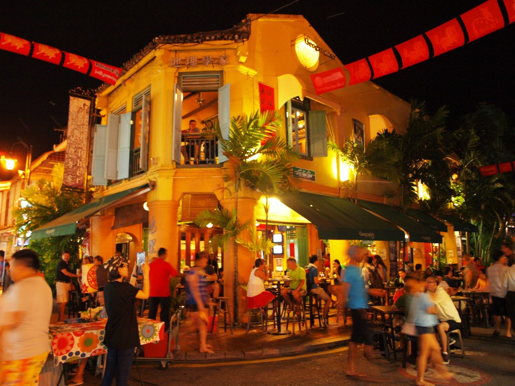 Drink and eat at Jonker Street in Malacca