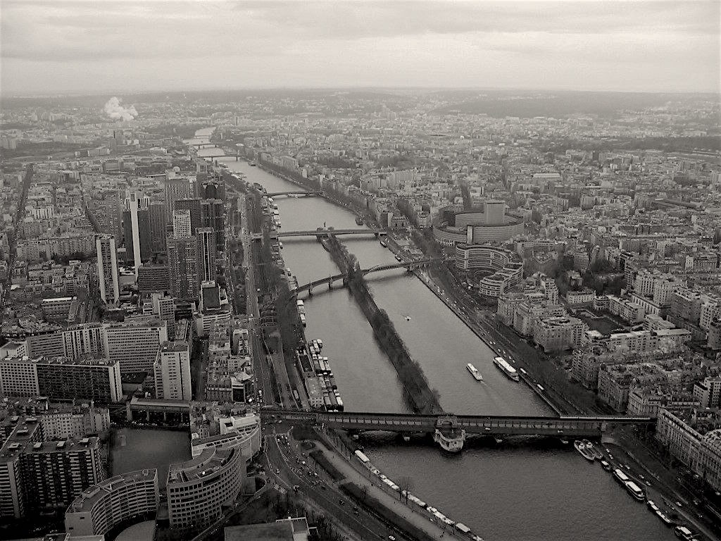 View from the Eiffel Tower in Paris, France