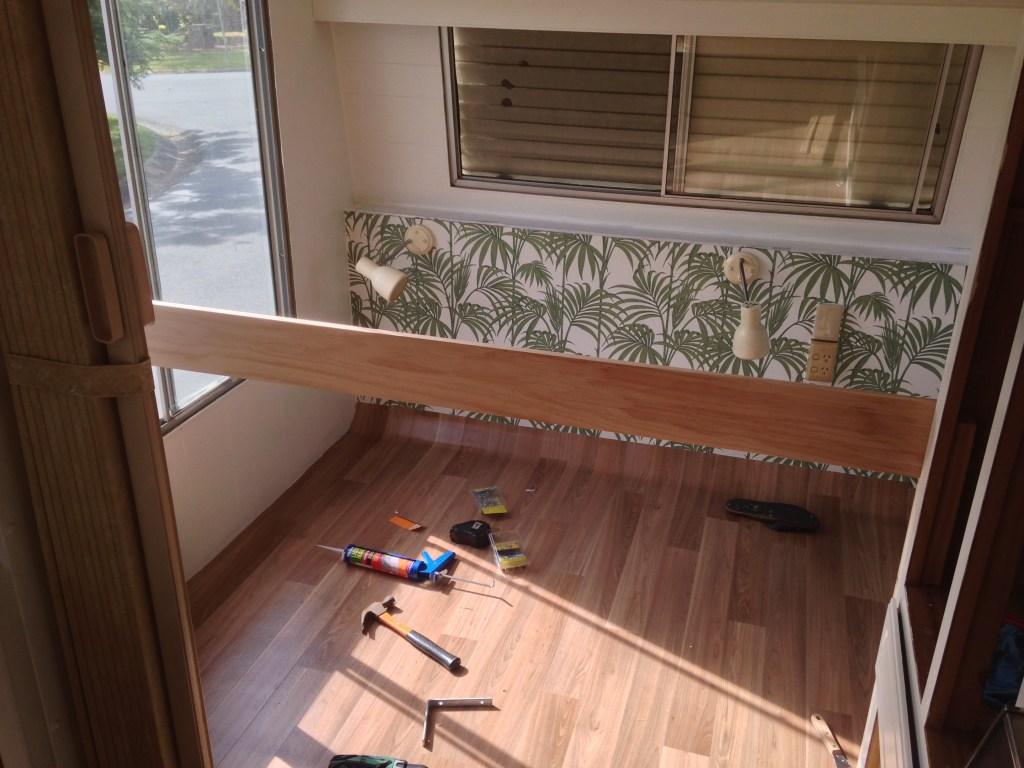 DIY Caravan Renovation Bunk Bed Construction