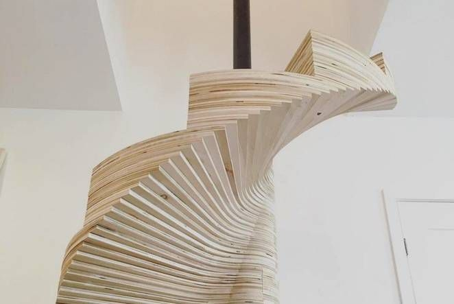Build Your Own Spiral Staircase From Simple Plywood Woodz   Building A Spiral Staircase Wood   Attic Stairs   Staircase Ideas   Outdoor Spiral   Curved Staircase Design   Attic Ladder