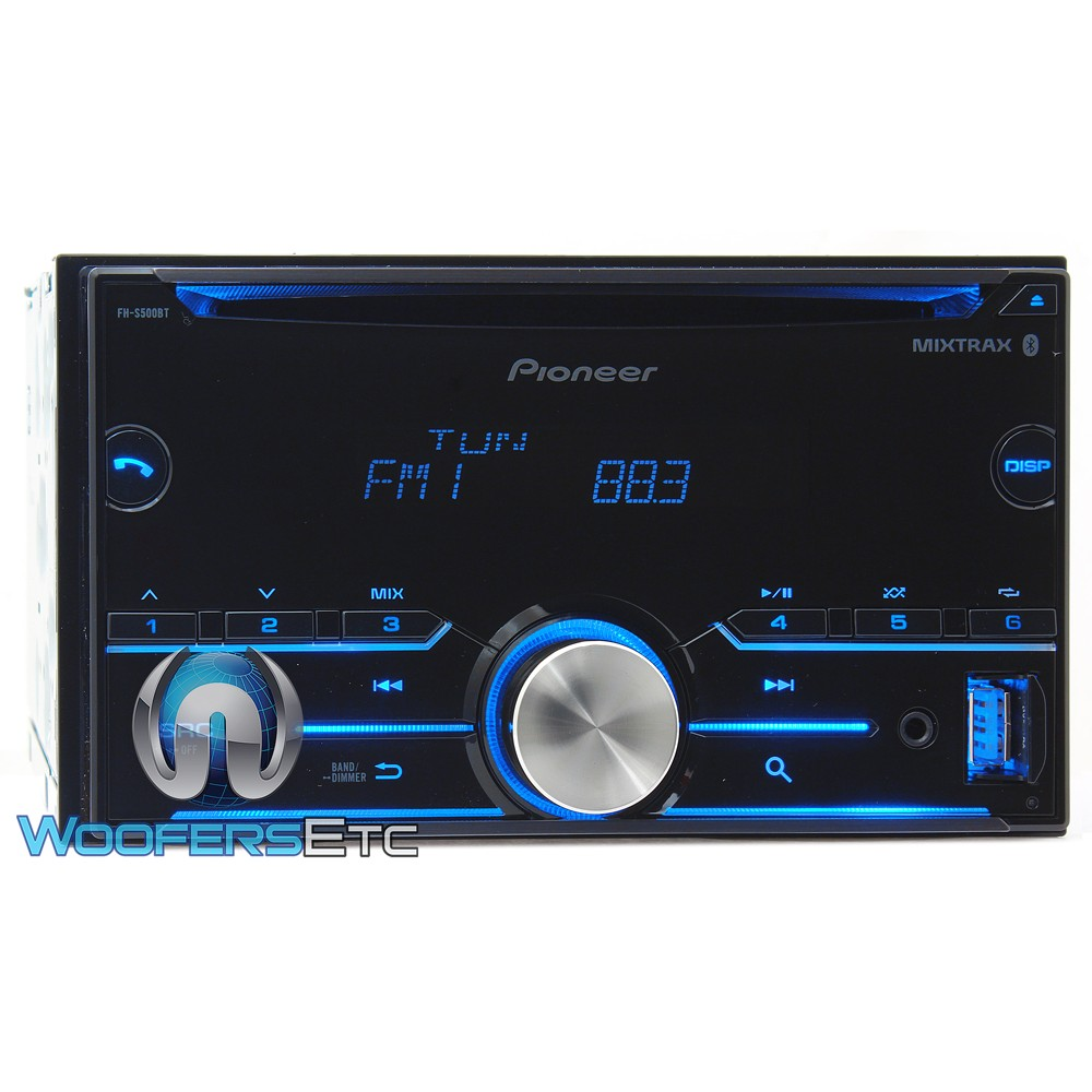 Pioneer Fh S500bt In Dash 2 Din Cd Mp3 Car Stereo Receiver
