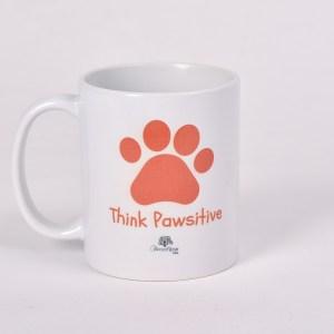 Orange - Think Pawsitive Mug