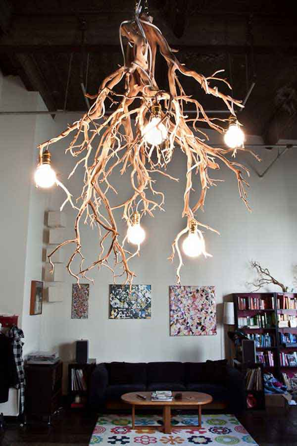 Rustic Tree Branch Chandeliers 1 3