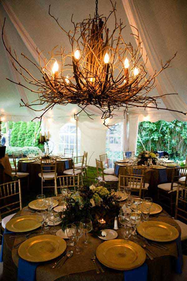 Rustic Tree Branch Chandeliers 20
